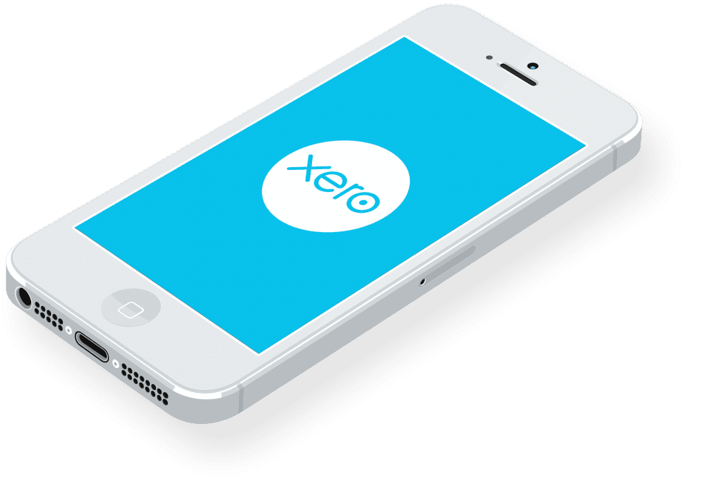 xero accounting on a smart phone, xero billericay